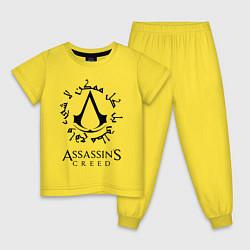 Пижама хлопковая детская ASSASSIN'S CREED цвета желтый — фото 1