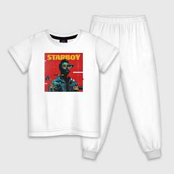 Пижама хлопковая детская STARBOY цвета белый — фото 1