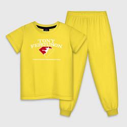 Пижама хлопковая детская TEAM EL CUCUY цвета желтый — фото 1