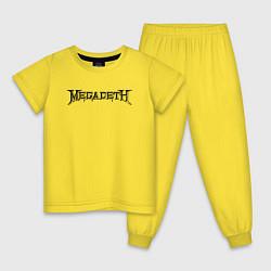 Пижама хлопковая детская Megadeth цвета желтый — фото 1