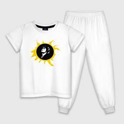 Пижама хлопковая детская Кино цвета белый — фото 1