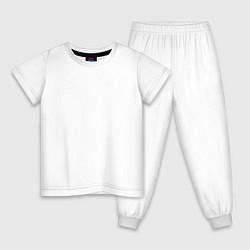 Пижама хлопковая детская HALO UNSC цвета белый — фото 1