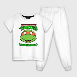 Пижама хлопковая детская TMNT MICHELANGELO цвета белый — фото 1