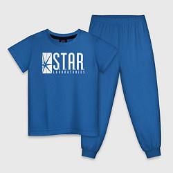Пижама хлопковая детская S T A R Labs цвета синий — фото 1