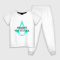 Пижама хлопковая детская ASSASSINS CREED VALHALLA цвета белый — фото 1