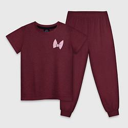 Пижама хлопковая детская Team Webby цвета меланж-бордовый — фото 1