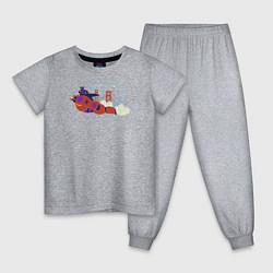 Пижама хлопковая детская Baymax and Hiro цвета меланж — фото 1