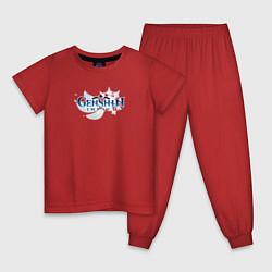 Пижама хлопковая детская Genshin Impact цвета красный — фото 1