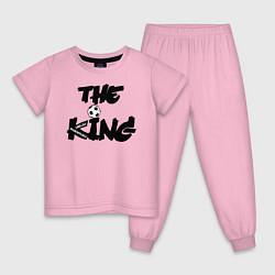 Пижама хлопковая детская Диего Марадона цвета светло-розовый — фото 1