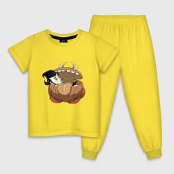 Пижама хлопковая детская Dont Starve цвета желтый — фото 1