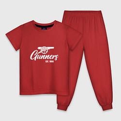 Пижама хлопковая детская Gunners Arsenal цвета красный — фото 1