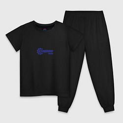 Пижама хлопковая детская Инженер внутри цвета черный — фото 1
