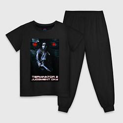 Пижама хлопковая детская Terminator JD цвета черный — фото 1