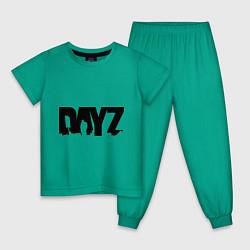 Пижама хлопковая детская DayZ цвета зеленый — фото 1