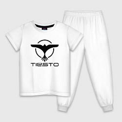 Пижама хлопковая детская Tiesto цвета белый — фото 1