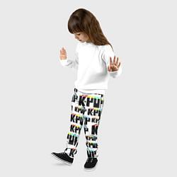 Брюки детские K-pop Pattern цвета 3D — фото 2