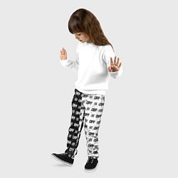 Брюки детские Off-White: Black & White цвета 3D-принт — фото 2