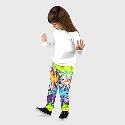 Брюки детские Неоновая кислота цвета 3D — фото 2