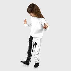 Детские 3D-штаны на резинке с принтом BILLIE EILISH, цвет: 3D, артикул: 10186129104927 — фото 2