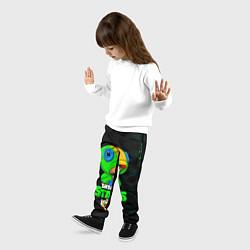 Детские 3D-штаны на резинке с принтом BRAWL STARS LEON, цвет: 3D, артикул: 10202002504927 — фото 2