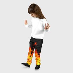 Брюки детские ОГНЕННЫЙ цвета 3D — фото 2