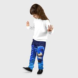Брюки детские Соник цвета 3D-принт — фото 2