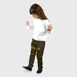 Брюки детские Travis Scott LOGO цвета 3D-принт — фото 2