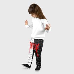 Брюки детские XXxTENTACION LOGOBOMBING цвета 3D — фото 2