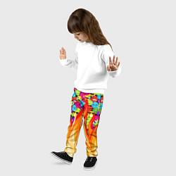 Брюки детские SLAVA MARLOW - Смайлики цвета 3D — фото 2