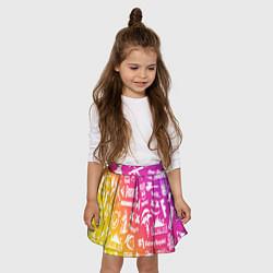 Юбка-солнце для девочки FORTNITE PARTY EVENT цвета 3D-принт — фото 2