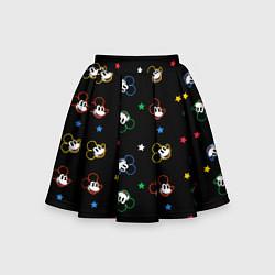 Юбка-солнце для девочки Микки Маус цвета 3D — фото 1