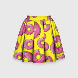 Юбка-солнце для девочки Пончики Гомера цвета 3D — фото 1