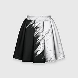 Юбка-солнце для девочки Черно-белый разрыв цвета 3D — фото 1