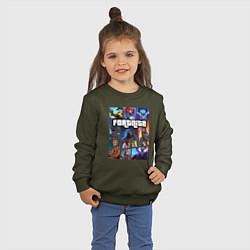 Свитшот хлопковый детский Fortnite GTA цвета хаки — фото 2