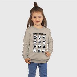 Свитшот хлопковый детский FORTNITE x MARSHMELLO цвета миндальный — фото 2