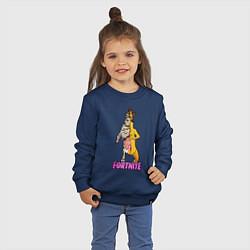 Свитшот хлопковый детский Peely Fortnitemare цвета тёмно-синий — фото 2