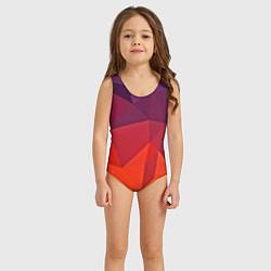Купальник для девочки Geometric цвета 3D-принт — фото 2