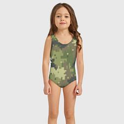 Купальник для девочки Хаки цвета 3D — фото 2