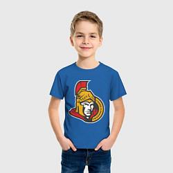 Футболка хлопковая детская Ottawa Senators цвета синий — фото 2