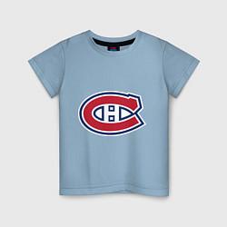 Футболка хлопковая детская Montreal Canadiens цвета мягкое небо — фото 1