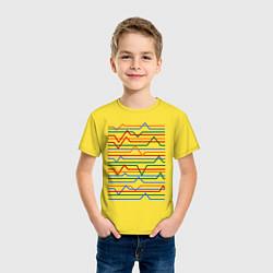 Футболка хлопковая детская Эквалайзер цвета желтый — фото 2