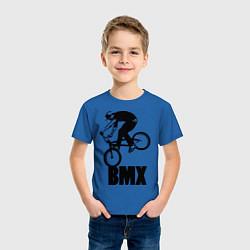 Детская хлопковая футболка с принтом BMX 3, цвет: синий, артикул: 10012778000014 — фото 2