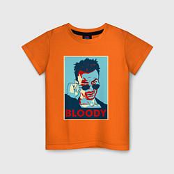 Футболка хлопковая детская Bloody Poster цвета оранжевый — фото 1
