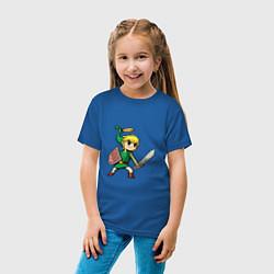 Футболка хлопковая детская Линк цвета синий — фото 2
