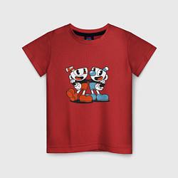Футболка хлопковая детская Cuphead цвета красный — фото 1