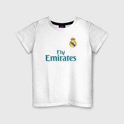 Футболка хлопковая детская Real Madrid: Ronaldo 07 цвета белый — фото 1