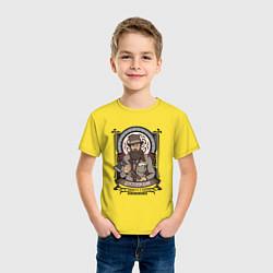 Футболка хлопковая детская Достоевский Федор Михайлович цвета желтый — фото 2