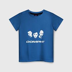 Футболка хлопковая детская Rock OOMPH! цвета синий — фото 1