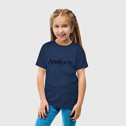 Футболка хлопковая детская Агата Кристи цвета тёмно-синий — фото 2