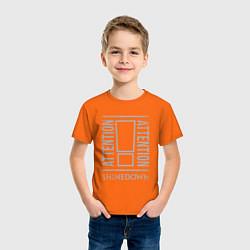 Футболка хлопковая детская Attention Shinedown цвета оранжевый — фото 2